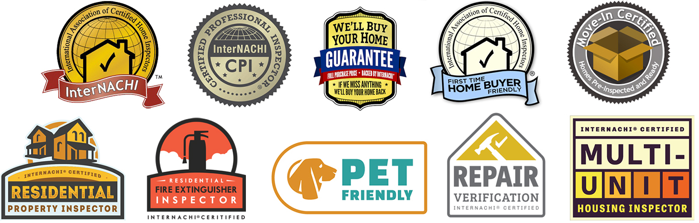 InterNACHI Certification Logos